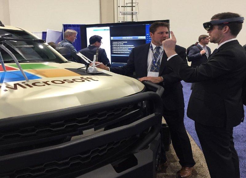 Microsoft demonstrates AVATAR's Augmented Reality Maintenance Aid (ARMA) on a virtual F/A-18 Super Hornet