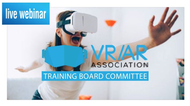 Marlo Brooke and VR/AR Association training committee host Live Webinar on 'Impact and ROI of VR/AR Training' – January 16, 2019